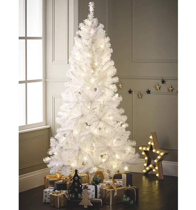 White Tinsel Artificial Christmas Tree (Tree ONLY